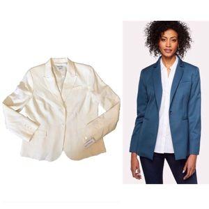 Pendleton season-less wool blazer in cream, NWT!